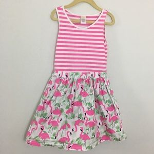 Gymboree pink stripes and flamingo print